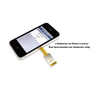 iPhone 4 und 4S mit 2 Simkarten betreiben